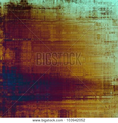 Grunge background with vintage and retro design elements. With different color patterns: yellow (beige); brown; blue; purple (violet)