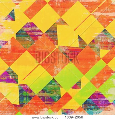 Grunge old-school texture, background for design. With different color patterns: yellow (beige); red (orange); green; purple (violet)