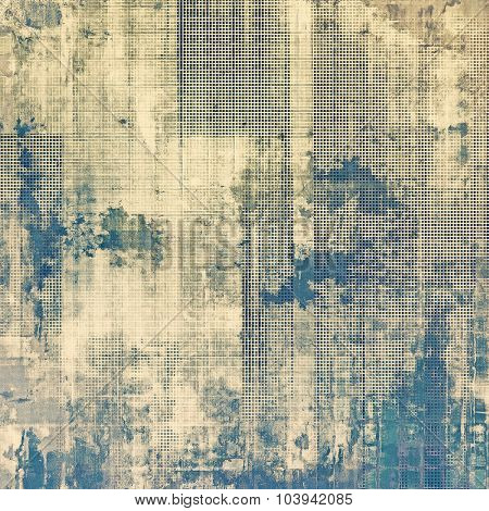 Vintage textured background. With different color patterns: yellow (beige); brown; gray; blue