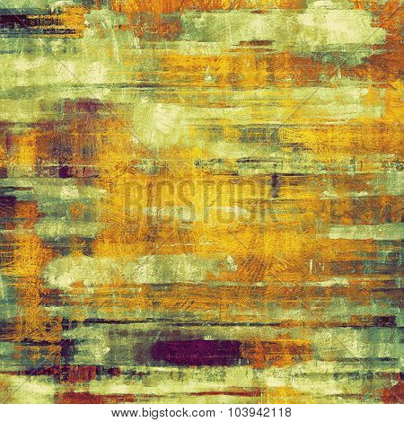 Abstract old background with rough grunge texture. With different color patterns: yellow (beige); brown; green; purple (violet)