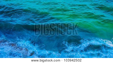 Blue Green Sea Surface