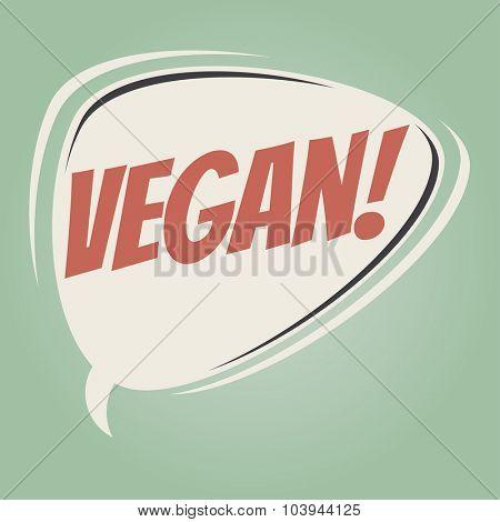 vegan retro speech bubble