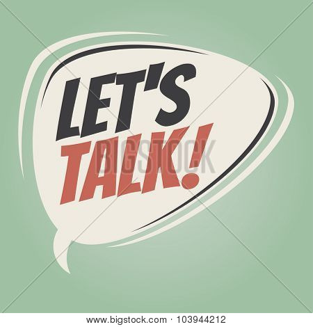 let's talk retro speech bubble