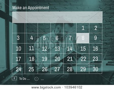Make An Appointment Calender Reminder Concept