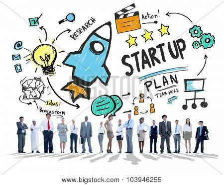 Start Up Business Launch Success Business Corporate Concept