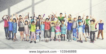 Kids Joyful Celebration Togetherness Happiness Concept
