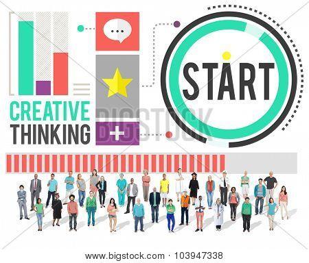 Start Beginning Forward Direction Motivation Concept