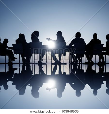 Group of Business People Meeting Brainstorming Concept