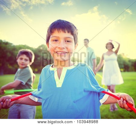 Family Bonding Healthy Lifestyles Cheerful Concept