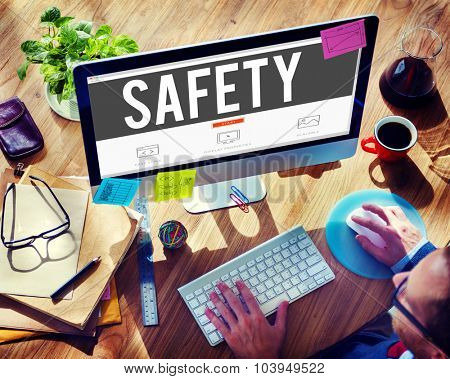 Safety Data Protection Network Security Safe Concept