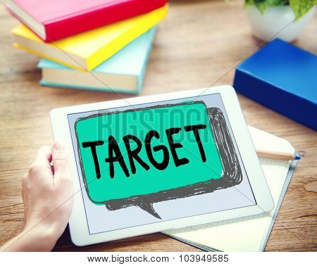 Target Aim Goal Inspiration Solution Success Vision Concept