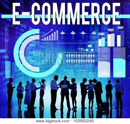 E-commerce Business Digital Marketing Networking Concept