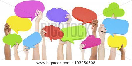 Speech Bubble Social Media Networking Communication Concept
