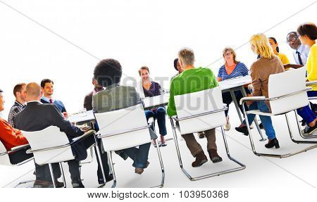 Group of Diverse Multiethnic People in a Meeting Concept