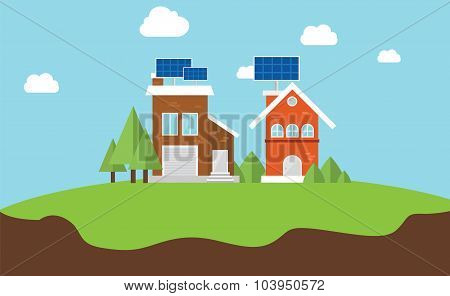 solarcity solar panel rooftop house