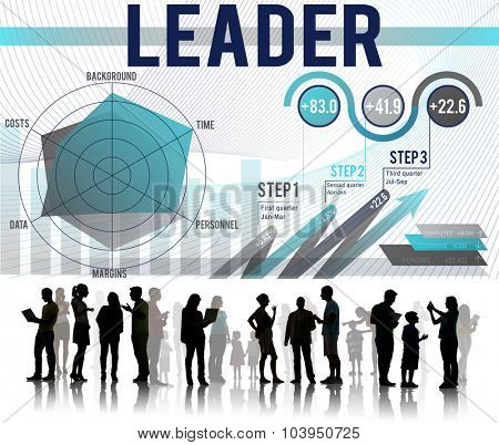 Leader Authority Coach People Concept