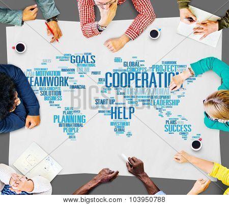 Cooperation Teamwork Assistance Help Support Concept