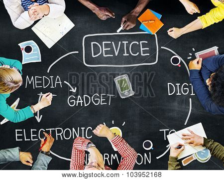 Device Digital Electronic Information Gadget Concept