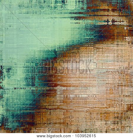 Art grunge vintage textured background. With different color patterns: yellow (beige); brown; blue; green