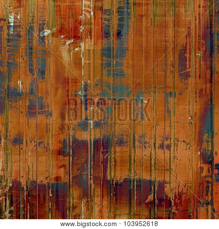 Abstract grunge background of old texture. With different color patterns: brown; blue; red (orange); purple (violet)