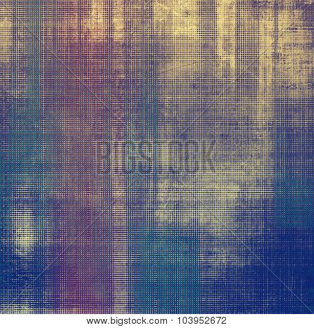 Vintage aged texture, colorful grunge background with space for text or image. With different color patterns: yellow (beige); gray; blue; purple (violet)