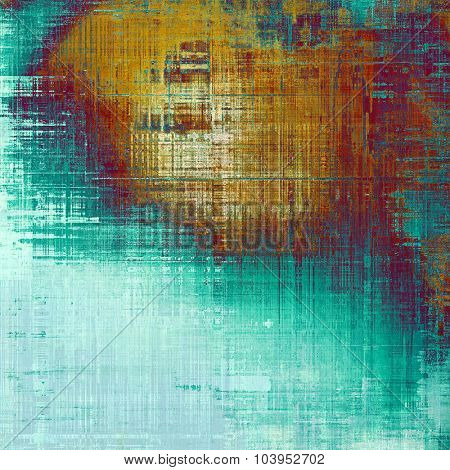 Grunge retro vintage textured background. With different color patterns: yellow (beige); brown; blue; cyan