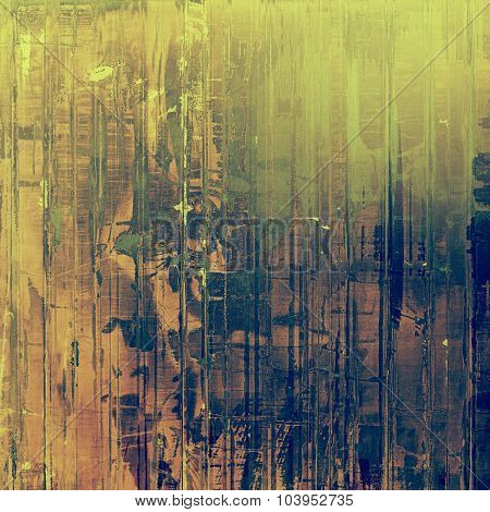 Retro background with grunge texture. With different color patterns: brown; gray; blue; green