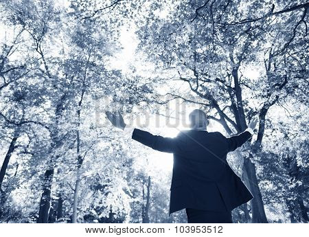 Business Relaxation Freedom Inspiration Nature Concept