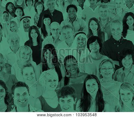 Ethnicity Diversity Ethnic Diverse Community Crowd Concept