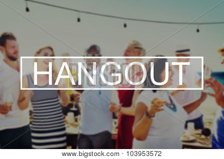 Summer Beach Friendship Holiday Vacation Hangout Concept