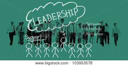 Leadership Teamwork Management Support Strategy Concept