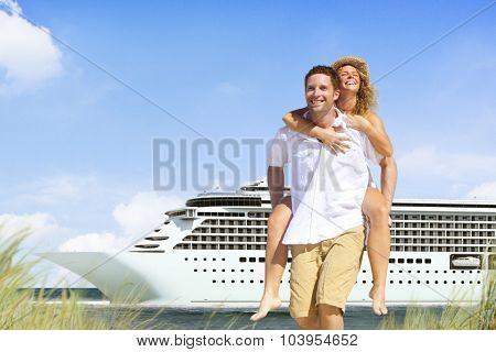 Couple Beach Cruise Vacation Holiday Leisure Summer Concept