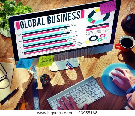 Global Business Growth Corporate Development Concept