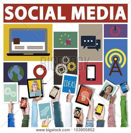 Social Media Social Networking Connection Media Link Concept