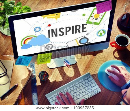 Inspire Ideas Creativity Knowledge Inspiration Vision Concept