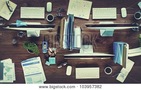 Contemporary Office Corporate Business Concept