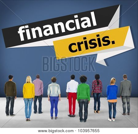 Financial Crisis Economics Accounting Risk Concept