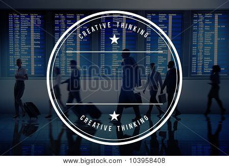 Business Airport Travel Badge Concept