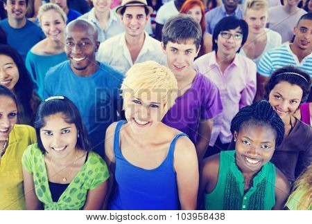 Multi-Ethnic Crowd Teamwork Friendship Concept