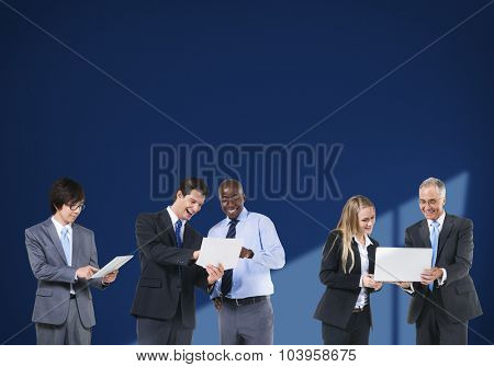 Business People Technology Networking Team Concept