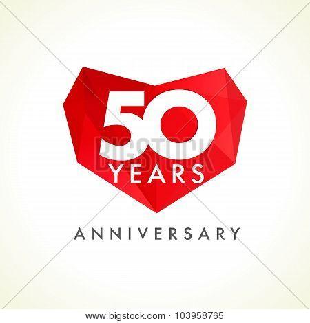 50 anniversary heart logo.