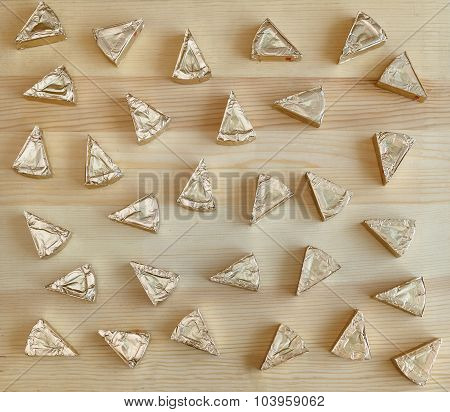 Triangles Of Cheese On The Table