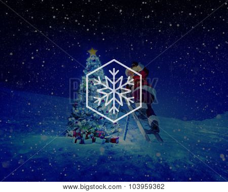 Snow Winter Snowflake Blizzard Christmas Concept