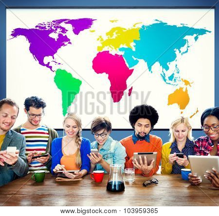 World Global Cartography Globalization Earth International Concept