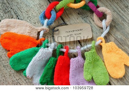 Christmas Ornament, Colorful, Mitten, Xmas, Glove