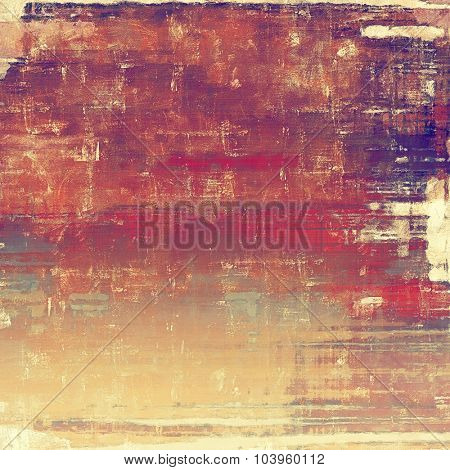 Old grunge template. With different color patterns: brown; red (orange); purple (violet); cyan