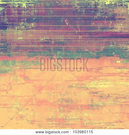Old, grunge background or ancient texture. With different color patterns: yellow (beige); green; pink; purple (violet)