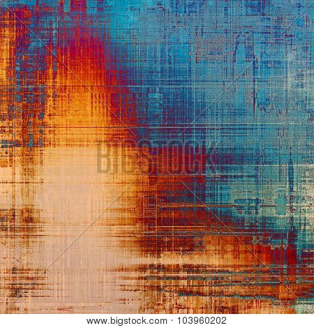 Grunge colorful texture for retro background. With different color patterns: yellow (beige); brown; blue; red (orange)