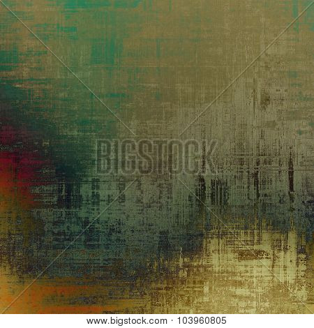 Grunge colorful texture for retro background. With different color patterns: yellow (beige); brown; gray; green