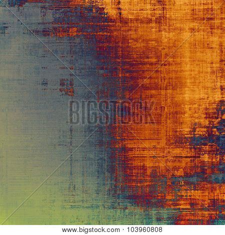 Retro background with old grunge texture. With different color patterns: yellow (beige); blue; red (orange); green